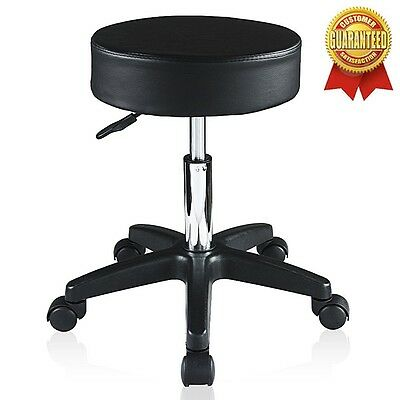 Medical Chair Exam Stool Adjustable Doctor Dental Lab Office Wheel Black New