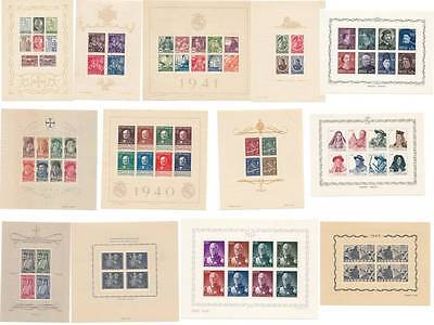 PORTUGAL SOUVENIR SHEETS 1985 TO 2012 - COMPLETE YEAR SET -MNH Mint never hinged