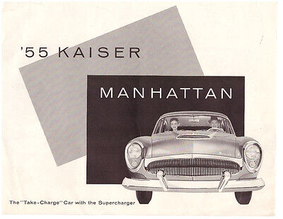 1955 Kaiser Manhattan Sales Brochure - Original With Price Quote