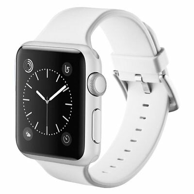 42mm IWatch  Silicone Wrist Watch Strap Band for Apple Watch White