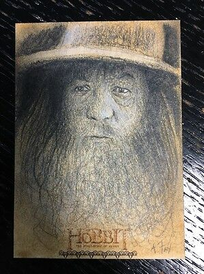 2015 Cryptozoic Hobbit Smaug sketch fine art card Andy Fry 1/1 Gandalf