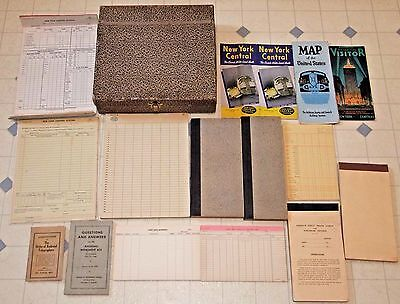 Vintage Lot NEW YORK CENTRAL RAILROAD Company, Log/Record Books, Forms, Booklets