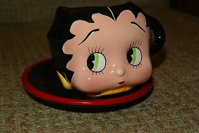Vandor 1997 Miniature BETTY BOOP Ceramic Hand Painted Cup and Saucer