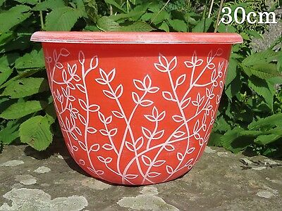Plastic Plant Flower Pot Planter Garden Patio Decor Large Planters Herb Pot Red