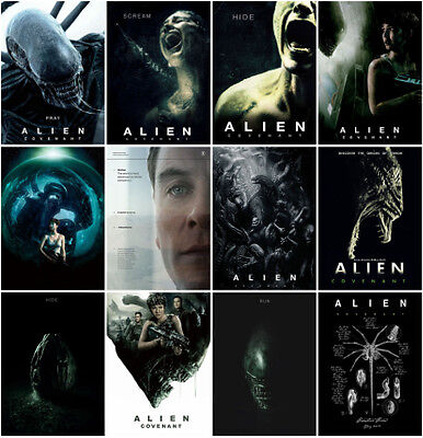 12pc Alien: Covenant Movie 2017 Postcard Charactor Promo Card Photo Poster Card