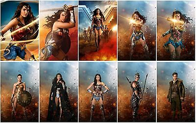 10 Wonder Woman Movie 2017 Promo Card PVC CHARACTOR Transparent Photo CARD D04