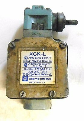 Telemecanique, Limit Switch, Xck-L Zck-L1, Iec 337-1 Nfc63-140, Vde 0660, Teil 2