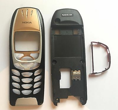 NOKIA 6310 / 6310i REPLACEMENT FACIA HOUSING, BLACK GOLD, HARD TO FIND, NEW