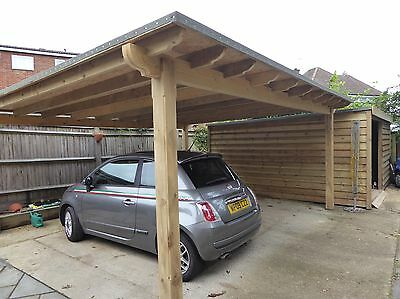 Wooden 5m X 5m Pergola, car Port, With Or Without Polycarbonate.  Built To Order