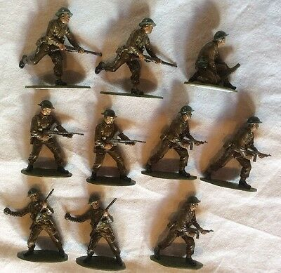 Airfix 1/32 British Infantry WW2. Well painted. 54mm.x10.