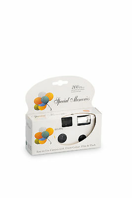 Party Balloon Design Disposable Camera Pack of 8
