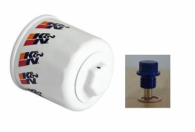 K&N performance oil filter HP-1008 + Blue M20 x 1.5 Thread Sump plug for Subaru