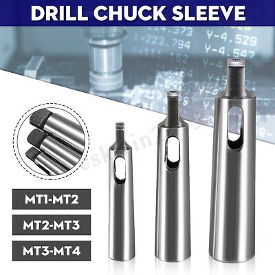 3x Set MT1-MT2 MT-2-MT3 MT3-MT4 Morse Taper Adapter Reducing Drill Chuck Sleeve