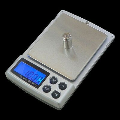 Digital Scale 1000g x 0.1g Jewelry Gold Silver Coin Grain Gram Pocket Size 0.01g
