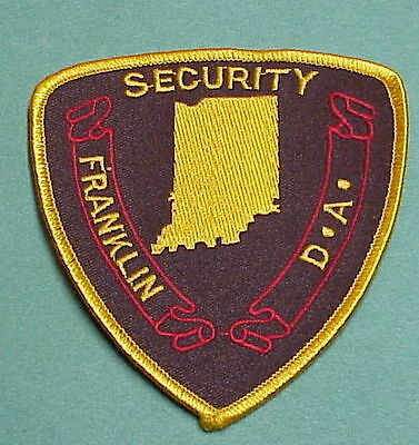 Franklin  Indiana   D.a.  Security / Police Patch   Free Shipping!!!