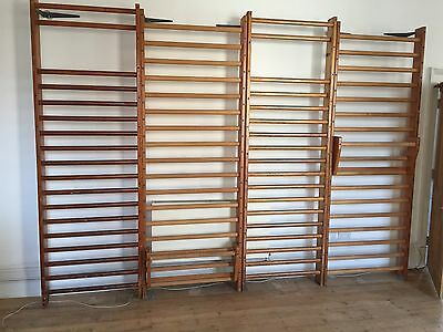 Vintage wooden Old School Gym wall climbing