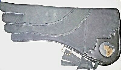 Eagle and Falconry Glove 4 Layers Pure Nubuck Leather 17 Inches Charcoal colour