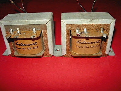 Two rare SIEMENS-SACHSENWERK  1956 SE  output transformer for Klangfilm projekt