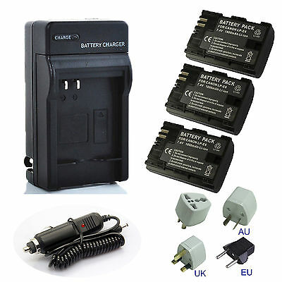 New Battery / Charger for Canon LP-E6 LPE6 LP-E6N LC-E6 EOS 80D 70D 60D Camera