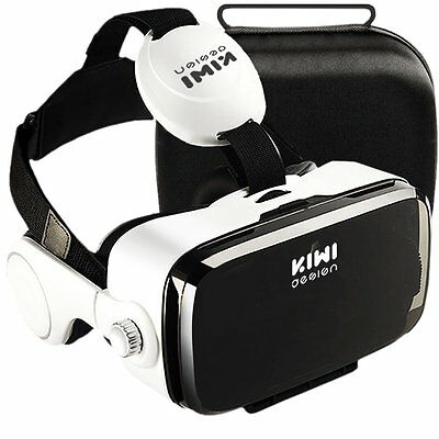 Virtual Reality 3D VR Box Headset Glasses for iPhone Android Microphone + Case