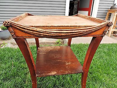 Zangerle & Peterson Wood Table Art Deco Style Mid Century Coffee End Table