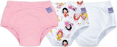 Bambino Mio Potty Training Pants 3 Pack Fairy Nappy Changing 18M - 3Yrs BNIP