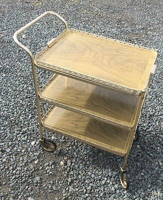 Vintage Retro 1950s Hostess Serving Three Tier  Tea Trolley ~ Removable Top Tray