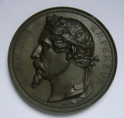 France, Napoleon III - Empereur Medal by Caqué. F., Exposition Universelle