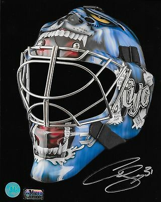 """Curtis Joseph (CUJO) 8"""" by 10"""" Autographed Photograph (Mask)"""