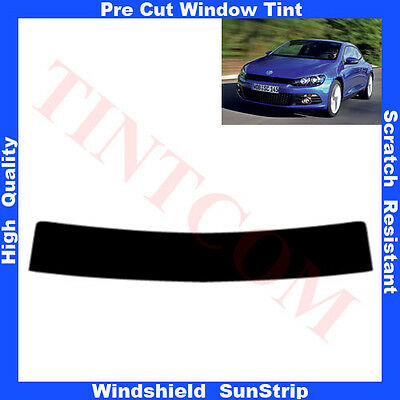 Pre Cut Window Tint Sunstrip for VW Scirocco 3 Doors 2008-2010 Any Shade