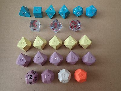 Vintage Gamescience Dice Lot - polyhedral set + percentage + other