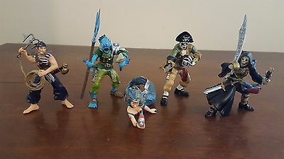Four Pirates and Mermaid Figurines by PAPO
