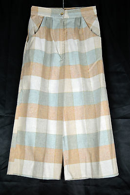 Vintage Check Culottes Super High Waisted Size 4/6