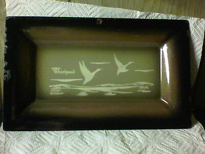 """RARE WHIRLPOOL Duck's``VINTAGE 30's ENAMELWARE TRAY ~L ~ 6"""" x 10"""""""