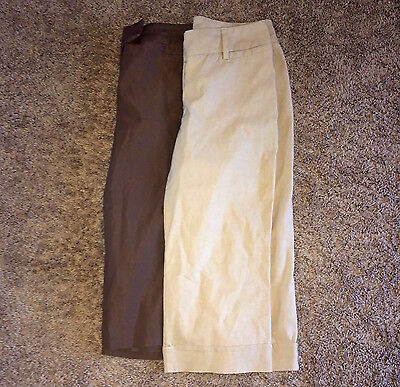 LOT F 2 Pairs Women's Career Crop Dress Pants Slacks Trousers 9 10 MEDIUM M GUC