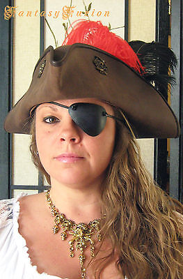 Pirate Freebooter Captain Leather Eye Patch Cosplay