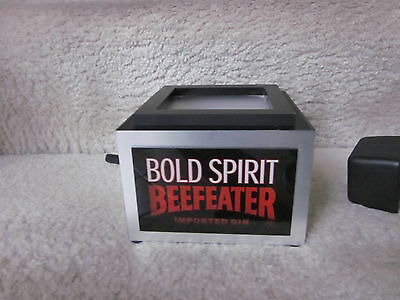 BEEFEATER Gin Bar Light Display MIB. Lights bottle sitting on top