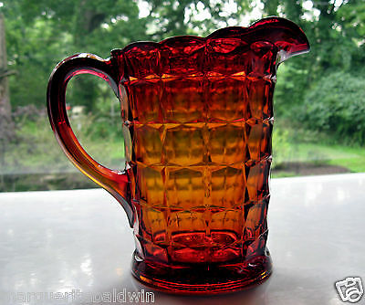 Tiara Indiana Glass Sunset Constellation 50 ounce Pitcher