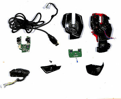 All Spare Part For Mad Catz M.m.o Te Mmo Te 43714 Black Glossy Red