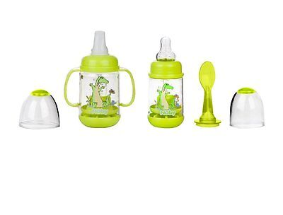 Nuby Infant Bottle Feeder Set UL1560 Select Your Color - 3mo+ BPA Free