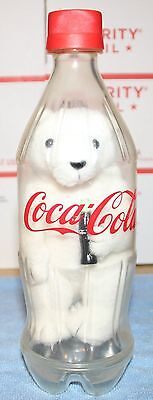 Coca Cola Plush Bear in Plastic Bottle