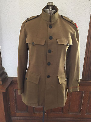 Vintage Wwi Army Tunic, 28Th Infantry, Size 38R, Paris Tailored, Wool