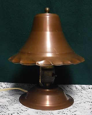 Antique Arts & Crafts Copper Desk Lamp Light
