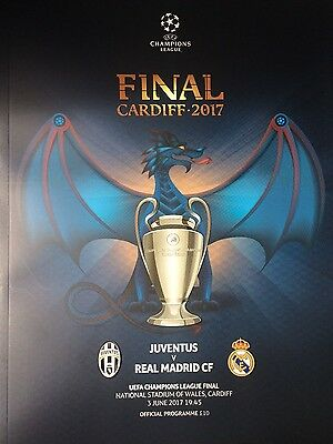 2017 JUVENTUS v REAL MADRID CHAMPIONS LEAGUE FINAL OFFICIAL PROGRAMME