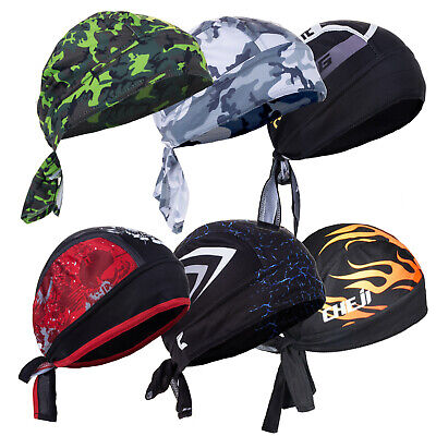 Men Do Durag Bandana Scarf Head Tie Down Band Cycling Biker Skull Cap Pirate Hat