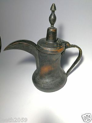 Antiqe rare Dallah coffee pot Bedouin Middle East handmade Brass- old Shtaraw