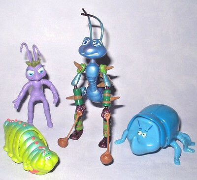 DISNEY PIXAR - A BUG'S LIFE 4 x ACTION FIGURE COLLECTION SET JOB LOT