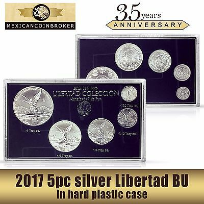 "2017 5pc silver Libertad BU      ""Treasure Coin of Mexico™"" set"