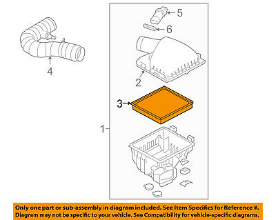 ford oem 05-10 mustang engine-air filter element 4r3z9601aa