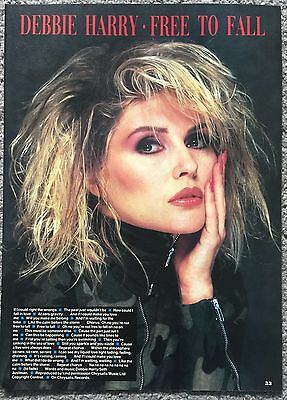 DEBBIE HARRY - FREE TO FALL 1987 full page UK magazine lyric poster BLONDIE